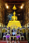 Buddha image in Wat Sutud, Bangkok, Thailand. — Photo