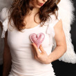Stock Photo: Angel heart