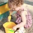 Child in sandbox — Stock Photo
