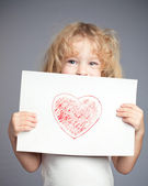Drawn heart — Stock Photo