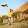 Flying a kite — Stock Photo #8140128