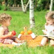Picnic in park — Stock Photo