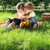 Children on picnic — Stock Photo