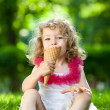 Child eating ice-cream — Stock Photo