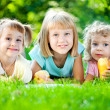 Children having picnic — Stock Photo #9152184