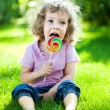 Child having picnic — Stock Photo #9152208