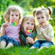 Children having picnic — Stock Photo