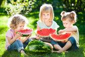 Children having picnic — Stock Photo