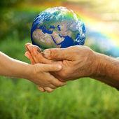 Terra. elementi di questa immagine fornita dalla nasa — Foto Stock