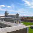 Panoramic view of Piazza dei Miracoli Pisa — Stock Photo
