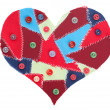 Stock Photo: Fabric scraps heart