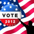 American presidential elections banner — Stock Photo