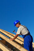 Carpenter building roof structure — Stock Photo