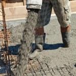 Pouring concrete — Stock Photo