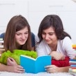 Royalty-Free Stock Photo: Teenager girls study together