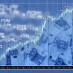 Stock exchange market background — Stock Photo