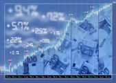 Stock exchange market background — Stock Photo