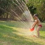 Water sprinkler fun — Stock Photo #9604329