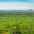 View from balloon of Siem Reap city, Cambodia — Stock Photo