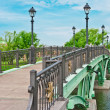Green Bridge in Tsaritsino Park, Moscow - Stock Photo