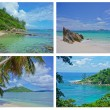 Collage of Tropical Landscapes, Seychelles - Stock Photo