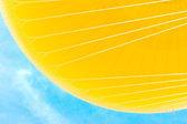Yellow Hot Air Balloon on Blue Sky — Stock Photo