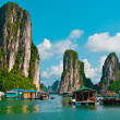 Floating fishing village in Halong Bay, Vietnam — Stock Photo #10354790