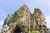 Entrance in Angkor Area on Blue Sky Background — Stock Photo