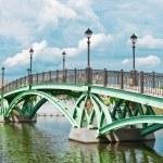 Bridge and river in Tsaritsino Park, Moscow — Stock Photo