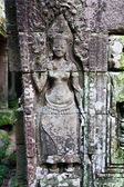 Apsara carved on the wall of Bayon Temple — Stock Photo