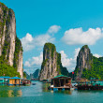 Floating fishing village — Stock Photo