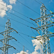 Power line towers — Foto Stock