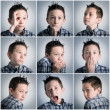 Stock Photo: Boy expressions