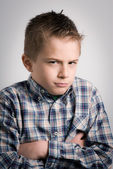 Sullen boy — Stock Photo
