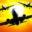 Airplanes fleet — Stock Photo #8021906