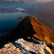 Stock Photo: Lecco lake from Mount Barro