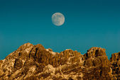 Mount Resegone and moon at sunset - Lombardy Italy — Stock Photo