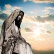 Virgin mary tombstone - Stock Photo