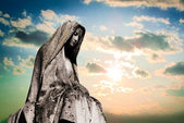 Virgin mary tombstone — Stock Photo