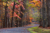 Scenic autumn drive — Stock Photo