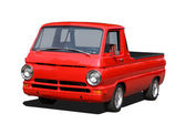 Old red pick up truck — Stock Photo