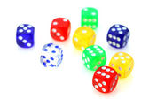 Colorful dies — Stock Photo