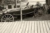 Old Car Scrap Yard — Stock Photo