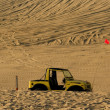 Stock Photo: Single Jeep Parked In Desert