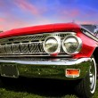 Red muscle car — Stock Photo #7988104