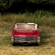 Single Red Classic Car — Stock Photo #7988150