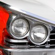 Head Lamps Of A Classic Car - 图库照片