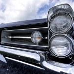 Постер, плакат: Classic car head lamp