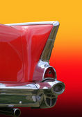 Retro Of Car Tail Lamp — Stock Photo