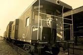 Compartimentos do trem velho — Fotografia Stock